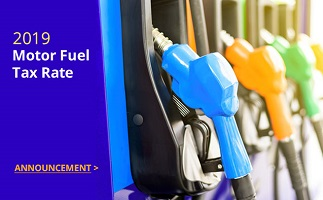 2019 Motor Fuels Tax Rate Announcement
