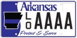 Arkansas Municipal Police Association License Plate