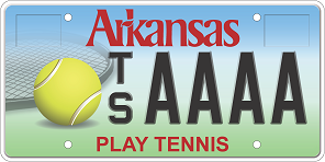 AR Tennis License Plate
