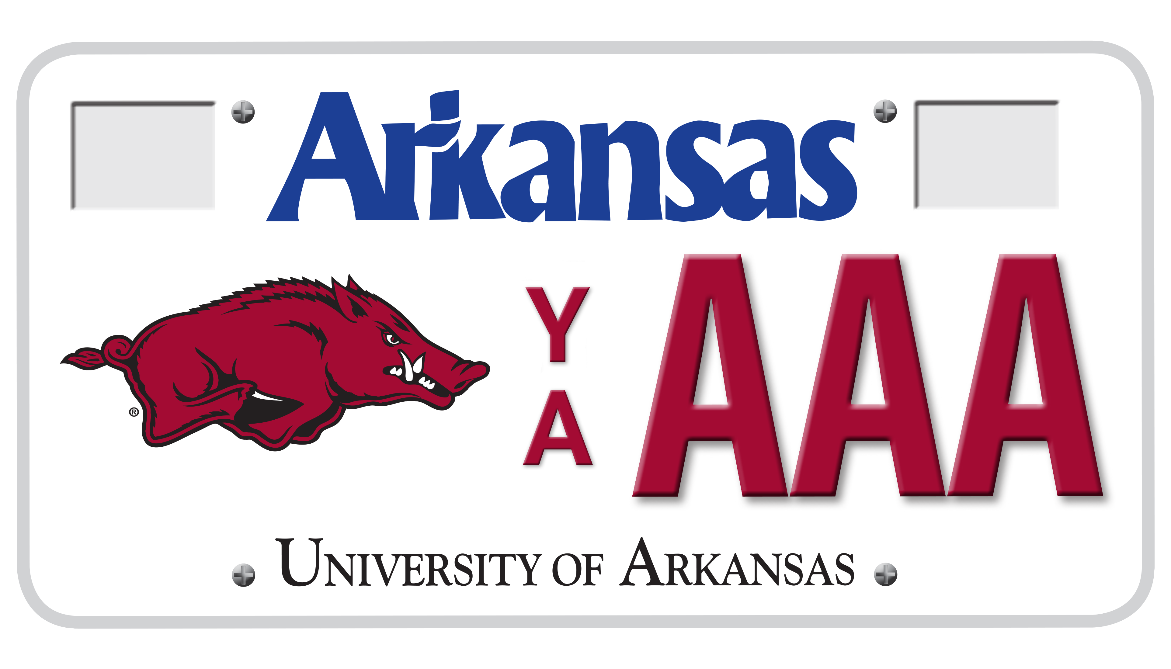 University Of Arkansas at Fayetteville License Plate - Current