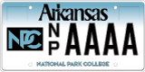 National Park Community College License Plate
