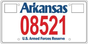 Armed Forces Reserve License Plate