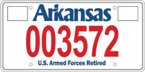 Armed Forces Retired License Plate