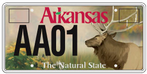 Specialty plates and placards department of finance and for How much is a fishing license in arkansas