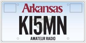 Amateur Radio License Plate