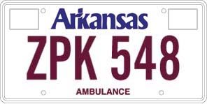 Ambulance License Plate