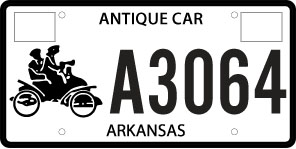 Antique Vehicle License Plate - Current