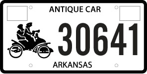 Antique Vehicle License Plate - Valid - No Longer Issued