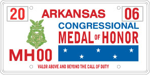 Congressional Medal of Honor License Plate