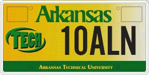 Arkansas Tech University License Plate