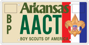Boy Scouts of America License Plate