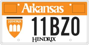 Hendrix College License Plate