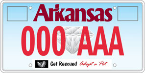 Humane Society of the Ozarks License Plate