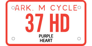 Purple Heart Motorcycle License Plate