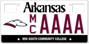 Mid-South Community College License Plate