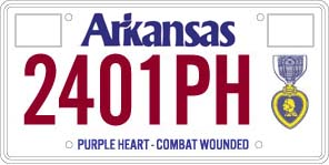 Purple Heart - Combat Wounded License Plate