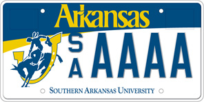 Southern Arkansas University License Plate