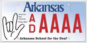 Arkansas School for the Deaf License Plate
