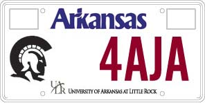 University of Arkansas at Little Rock License Plate