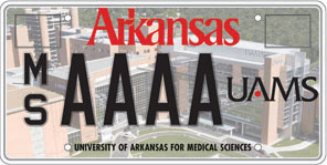 University of Arkansas Medical Sciences License Plate