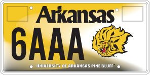 University Of Arkansas at Pine Bluff License Plate