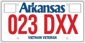Vietnam War Veteran License Plate