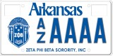 Zeta Phi Beta Sorority License Plate